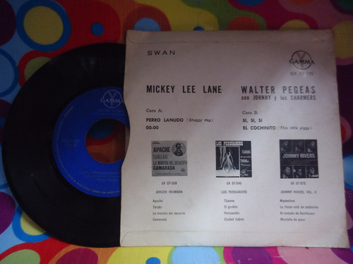 mickey lee lane lp 45 rpm perro lanudo,