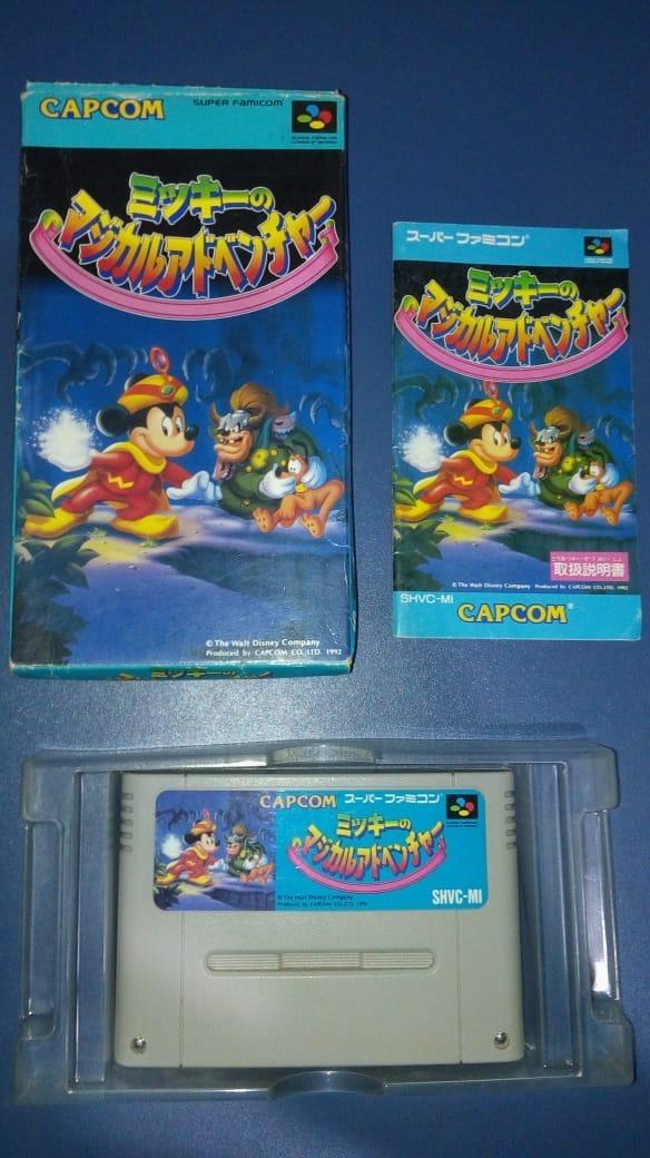 Mickey Magical Quest 1 Com Caixa Super Famicom