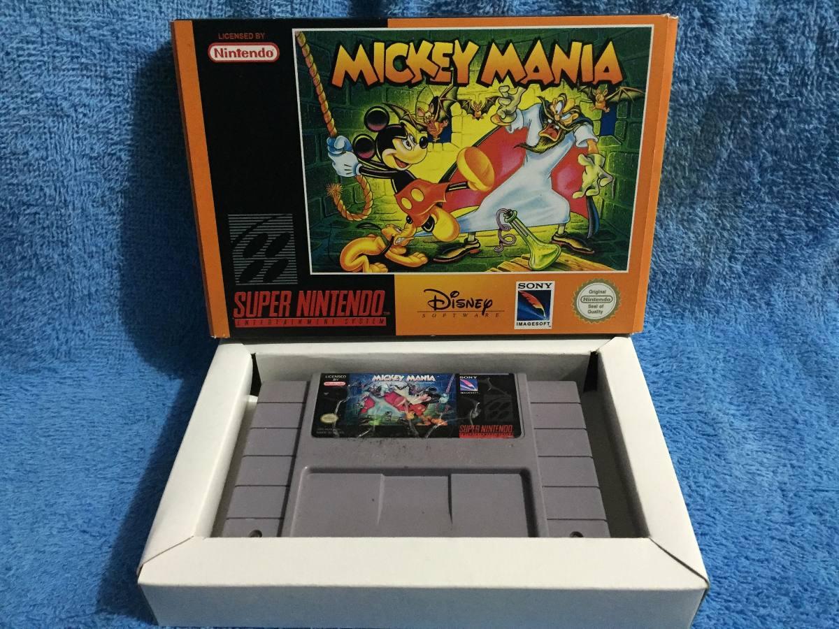 Mickey Mania Caja Custom Snes Nintendo - $ 399 00