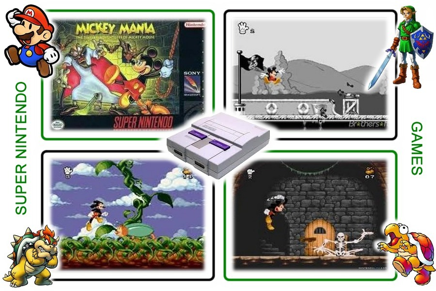 Mickey Mania Original Super Nintendo Snes