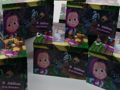 mickey , minnie cajas de madera premium sorpresitas 60 unid