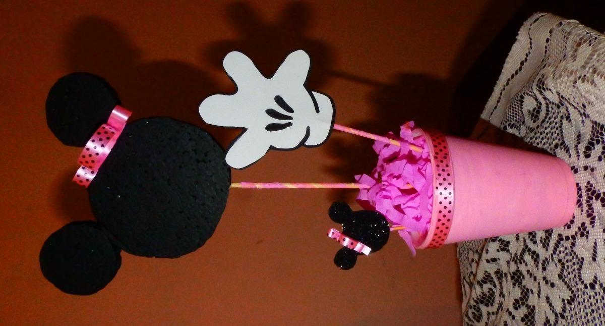 Mickey minnie centro de mesa cumplea os 80 00 en for Mesa de cumpleanos de mickey