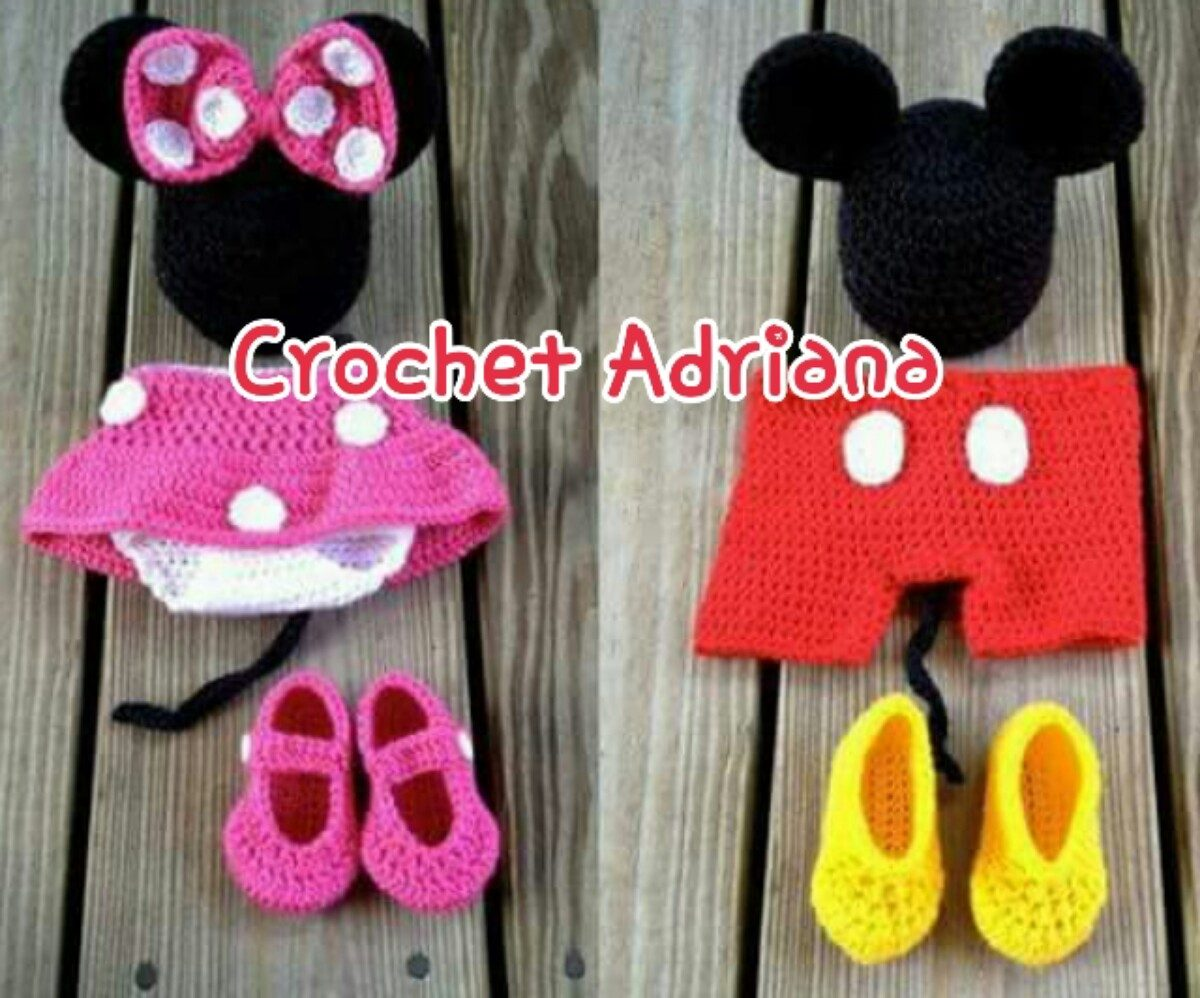 Mickey Minnie Mouse Gorro Y Calzoncito O Shorts - $ 650.00 en ...