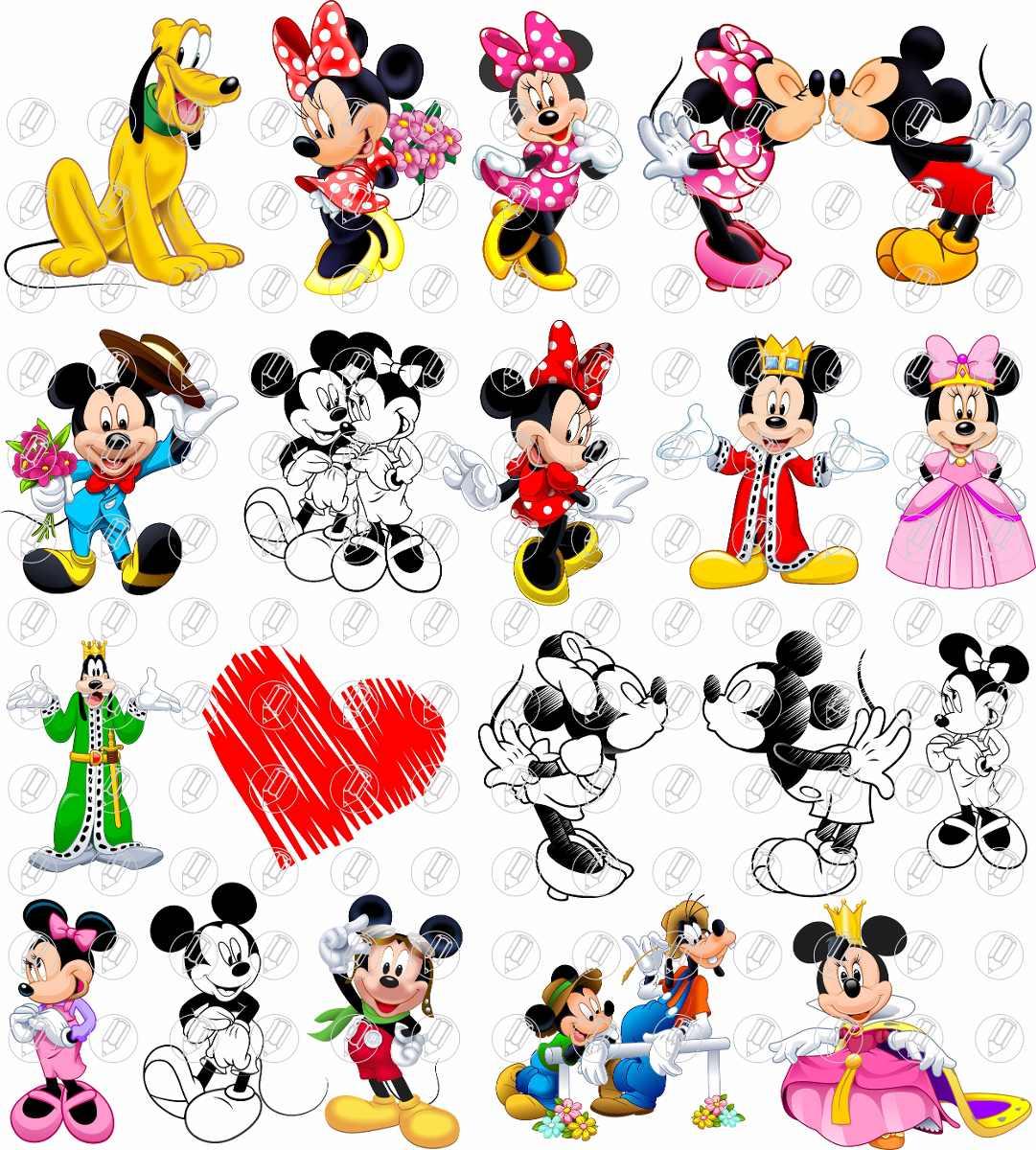 Mickey Minnie Namorados Casal Vetor E Imagens Png R 22 00 Em