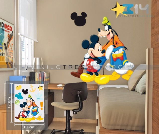 Vinilos Mickey Mouse Para Pared.Mickey Mouse 1 Vinilo Decorativo Calcomania De Pared