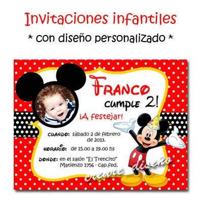 Mickey Mouse 25 Invitaciones Personalizadas Cartel Regalo