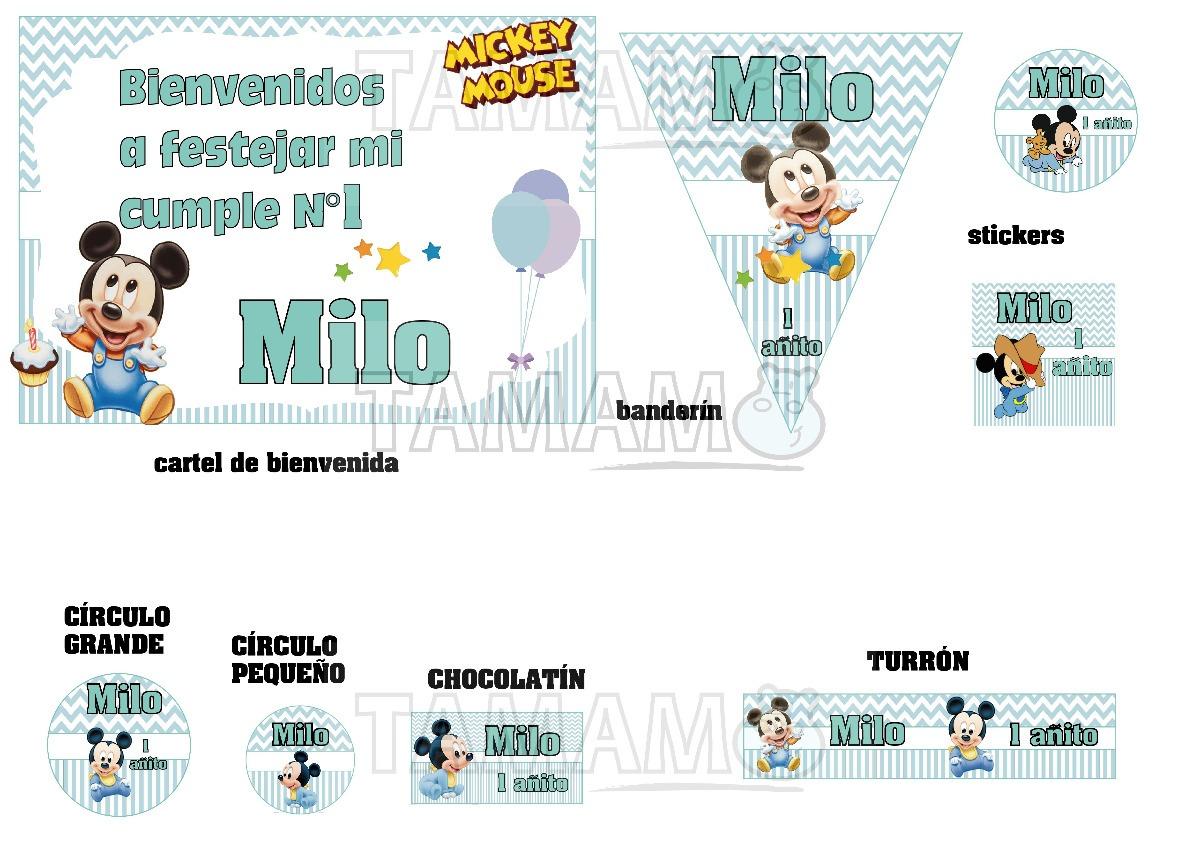 Mickey Mouse Bebe Cumpleanos Candybar Personali Envio Gratis 850