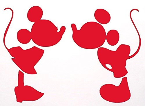 Mickey Mouse Besando Minnie Decal Vinyl Sticker Coches