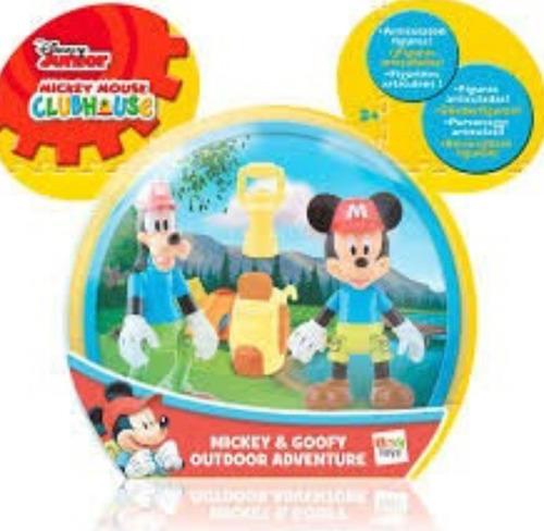 mickey mouse club house  blister x 2  figuras articuladas