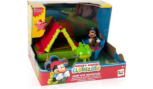 mickey mouse club house campamento aventura carpa lancha
