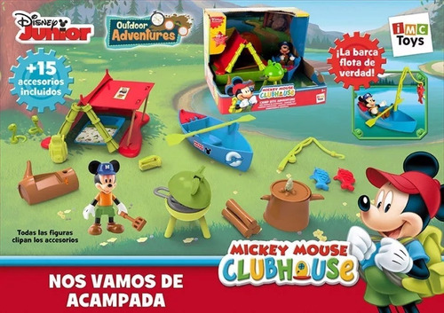 mickey mouse club house campamento set aventura orig smile