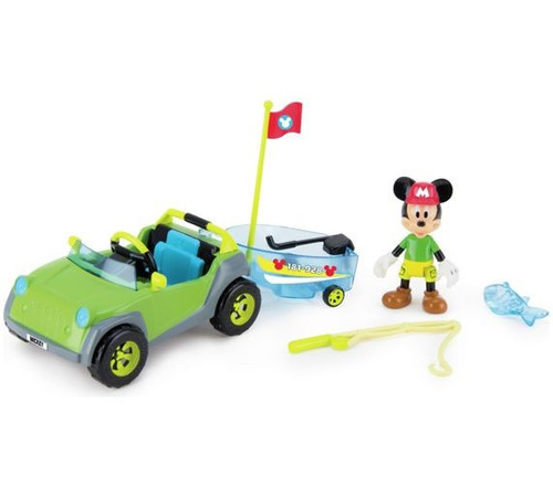 mickey mouse club house vehiculo 4x4 de aventura bote caña