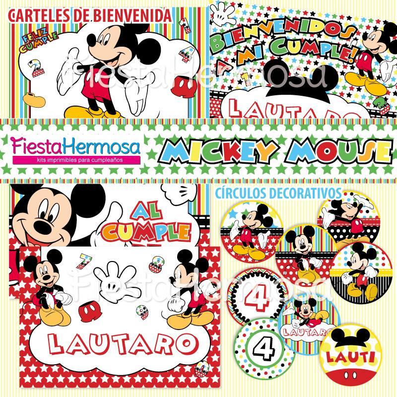 Mickey Mouse Decoraciones De Fiesta Para Imprimir, Candy Bar - $ 179 ...