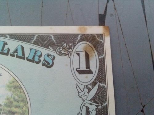mickey mouse disney dollars 1990 recuerdo de viaje.