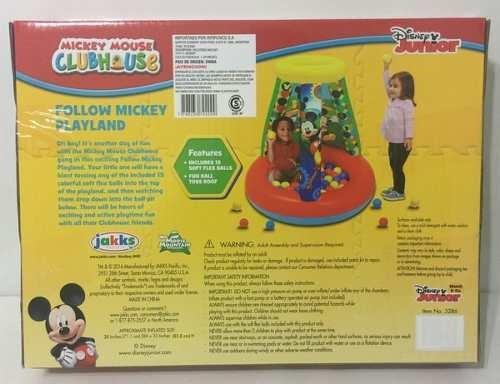 mickey mouse disney pelotero inflable c/15 pelota bs jyj3286