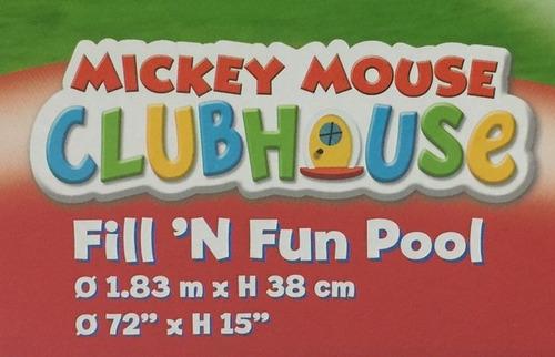 mickey mouse disney pileta rigida 183cm original bs 91009