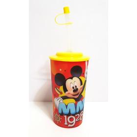Mickey Mouse Dulceros Vasos Fiestas 30 Pz Tapa Y Popote