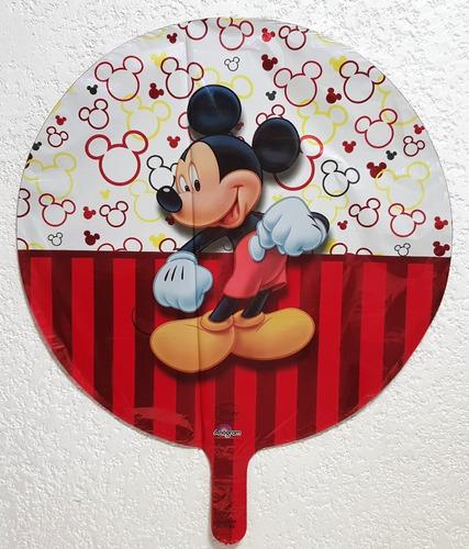 mickey mouse globos fiestas 5 pz metálicos helio 18 pulgadas