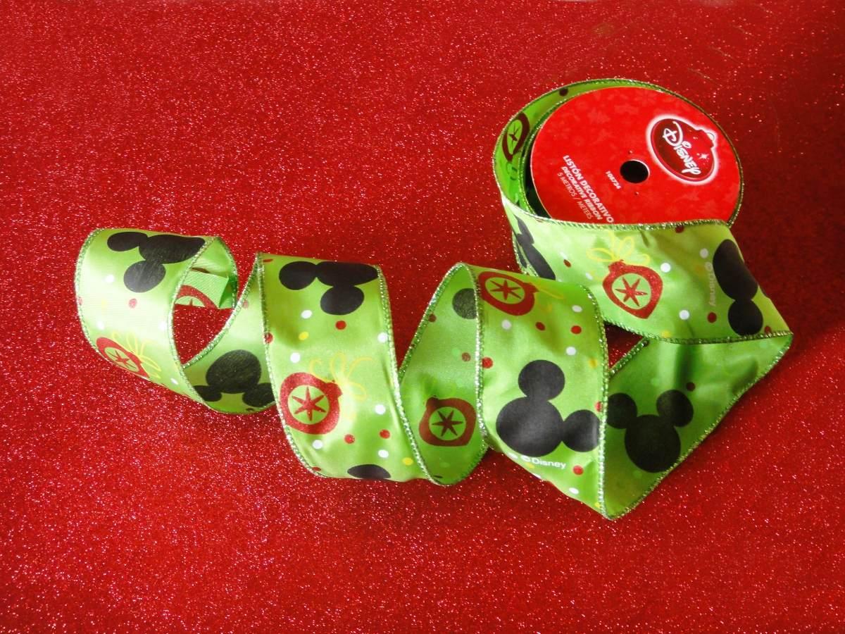 Mickey mouse list n decoraci n coronas mo o pino navidad for Adornos navidenos mickey mouse