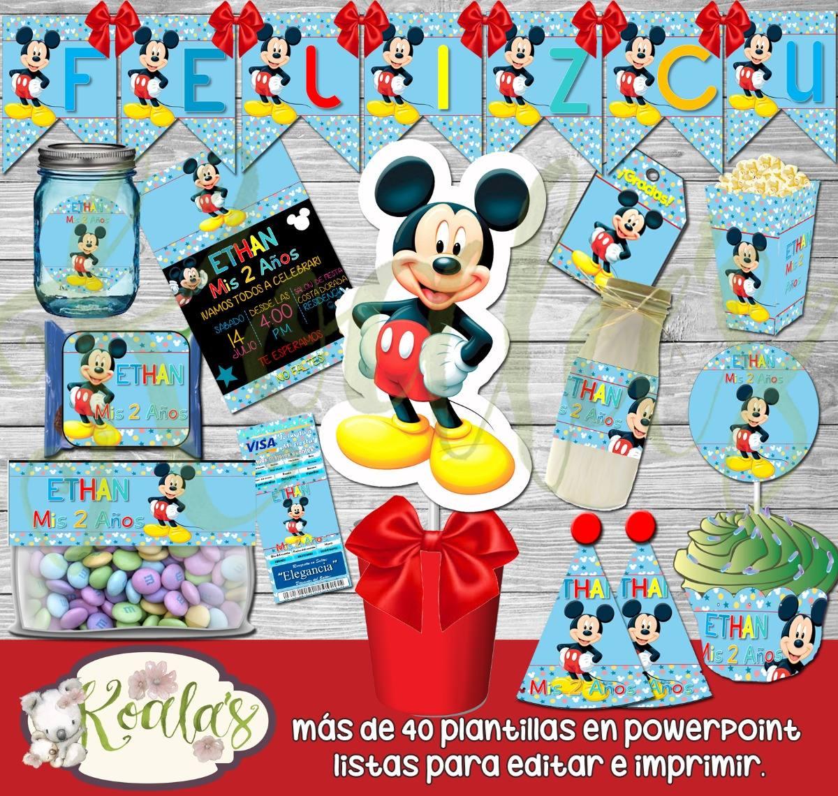 Mickey Mouse Mega Kit Imprimible Editable Candy Bar 300 00