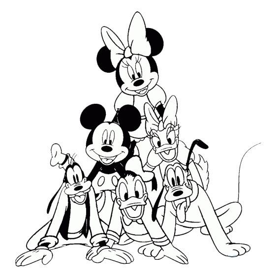 Mickey Mouse O Minnie Mimi Libro Colorear Mimi Miky Libro