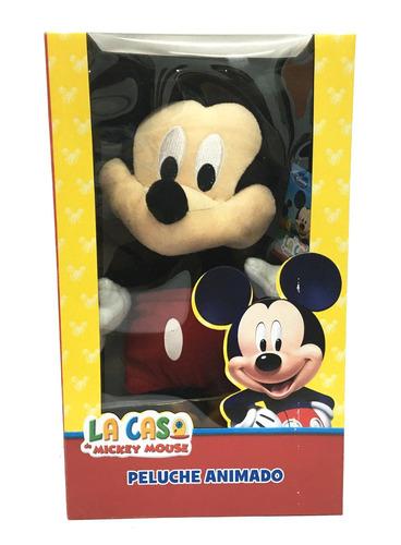 mickey mouse peluche animado danzarin 30cm con musica disney
