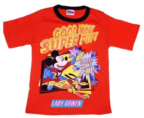 mickey mouse playera naranja camiseta unisex niñ@ original