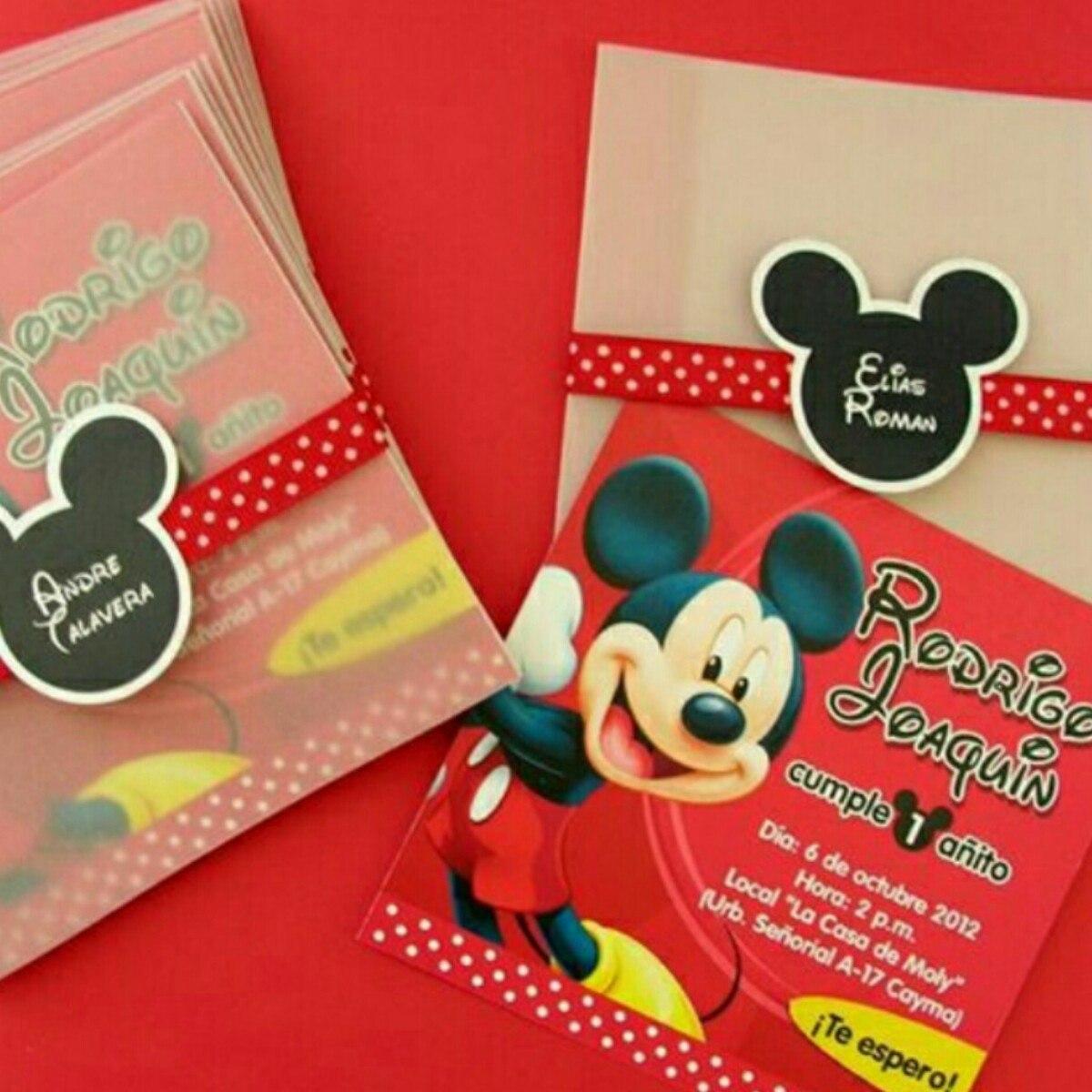 Mickey Mouse Tarjeta De Invitación Personalizada