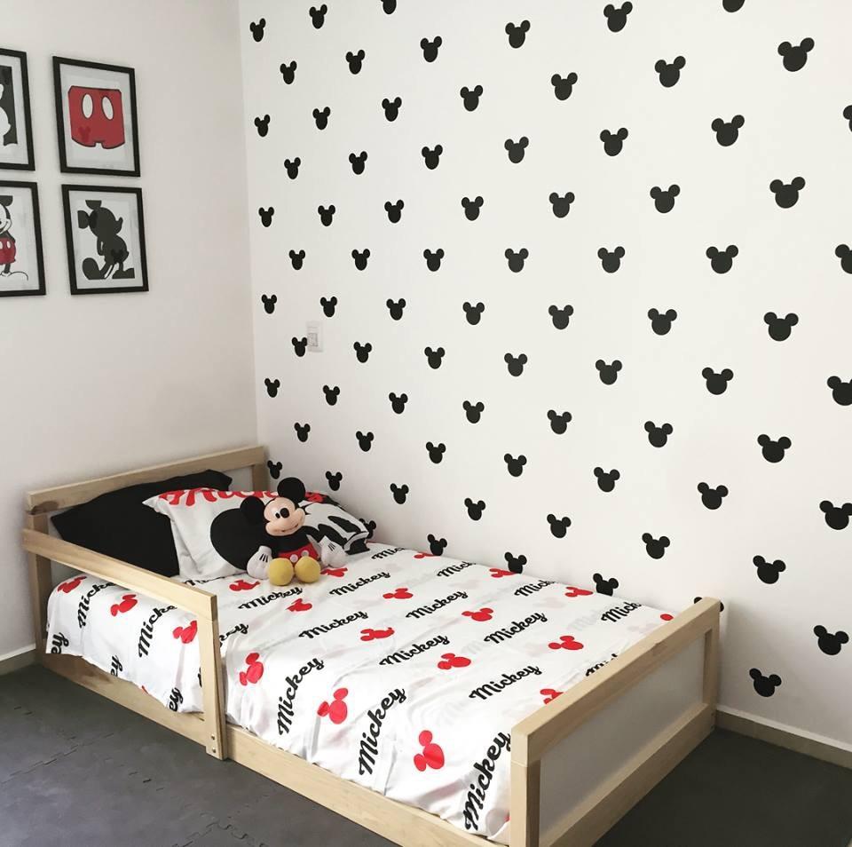 Mickey Mouse Vinil Pared / Decoración Cuarto - $ 550.00 en Mercado Libre