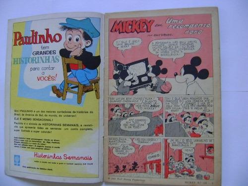 mickey n°108 outubro  de 1961 editora abril