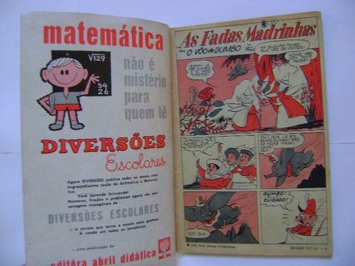 mickey n°111 janeiro  de 1962 editora abril