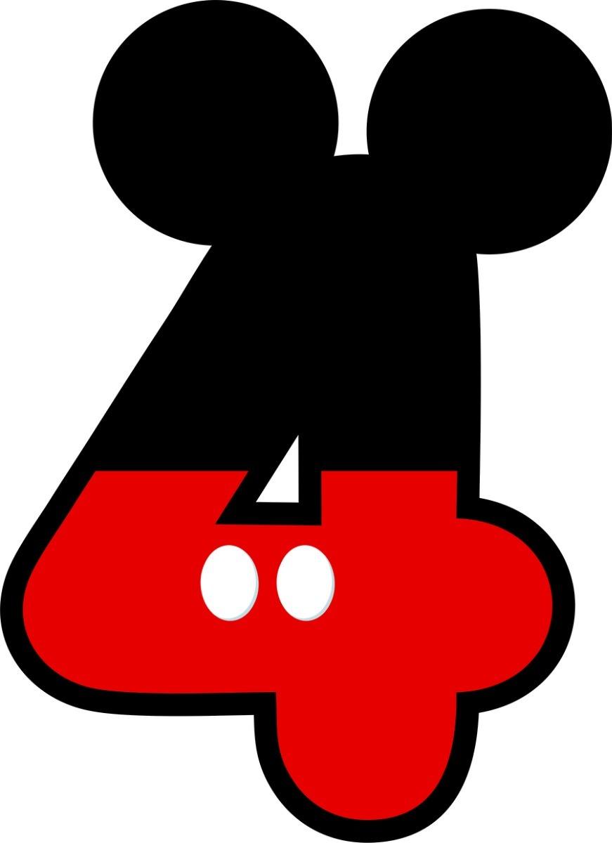 mickey numero 4 com 1 peça de 70cm envio 48hs r 44 99 em mercado