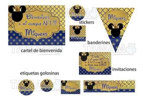 Mickey Rey Kit Cumpleaños Imprimible Personalizado