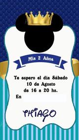 Mickey Royal Rey Príncipe Invitación Tarjeta Digital Whatsap