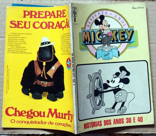 mickey sessenta anos nº 1 - ed. abril - anos 30 e 40