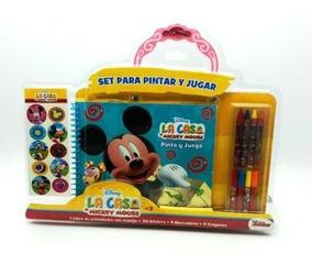 Y Pintar Disney Set De Mickey Para Jugar Libro Actividades oQrdthxsCB