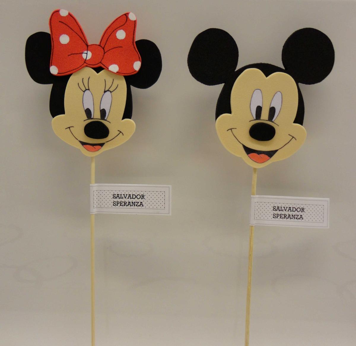 Mickey Y Minnie Souvenirs En Goma Eva - $ 24,00 en Mercado Libre