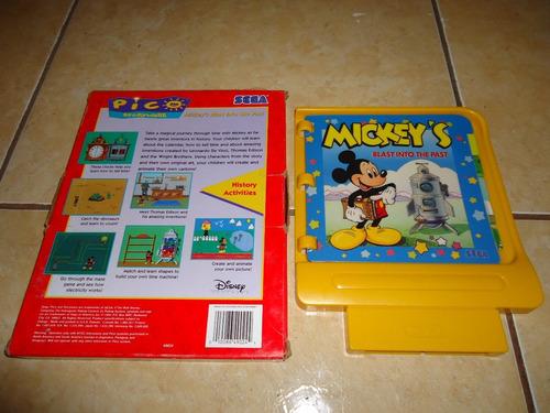 mickeys blast into the past sega pico en caja +++