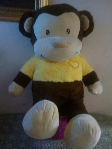 mico gigante en felpa 110 cms + envio gratis  /osos gigantes