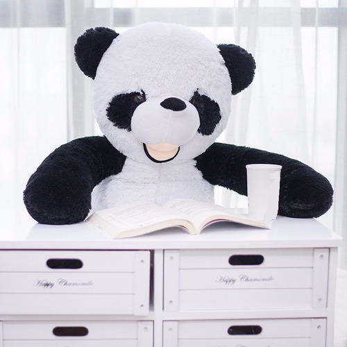 mico oso panda peluche gigante grande 110 cm monkey