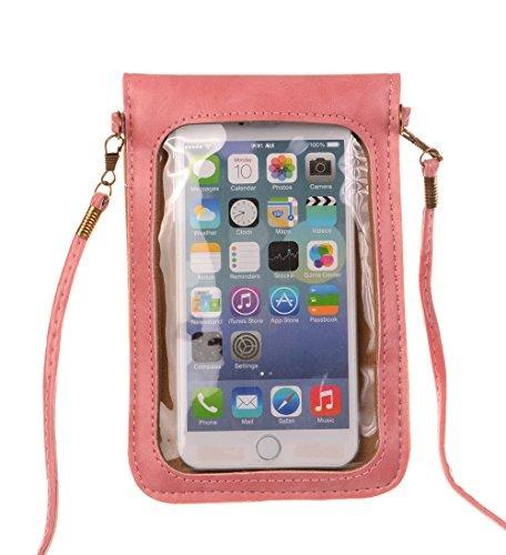micoolker suave pu leather pequeña teléfono purse crisantemo