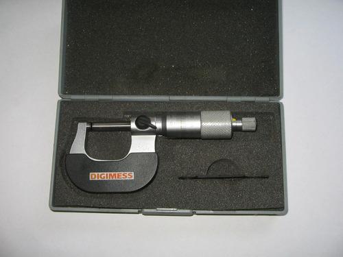 micrômetro externo 0-25mm digimess graduação 0,001mm