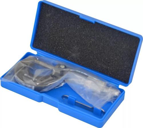 micrômetro externo c/ catraca escala 0-25mm resolução 0,01mm