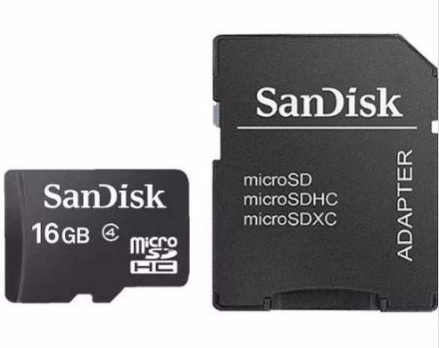 micro 16gb sandisk cartão memória