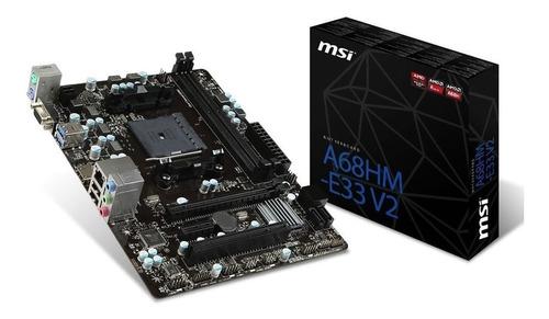 micro amd apu a6-7480 dual core radeon r5 + mother msi a68