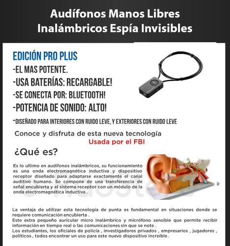 micro audifonos inalambricos manos libres invisibles espia android iphone bluetooth recargable 02 en