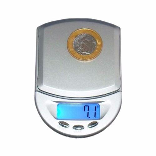 micro balança digital de precisão pesa grama 0,1g a 500g