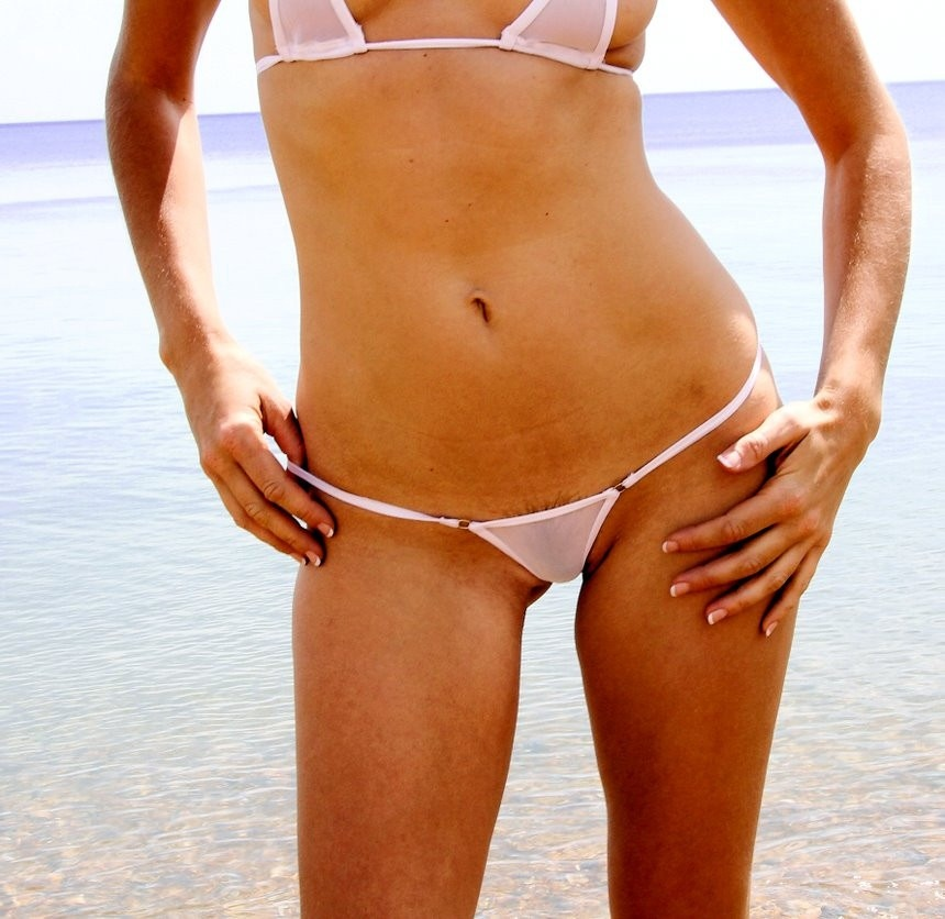 Micro mini bikini transparent