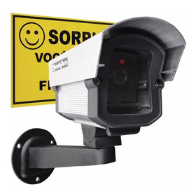 Micro Câmera Falsa Com Led P/ Segurança Security Parts