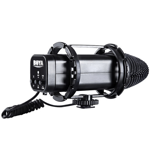 micro cine camara boya by-v02 estereo condensador
